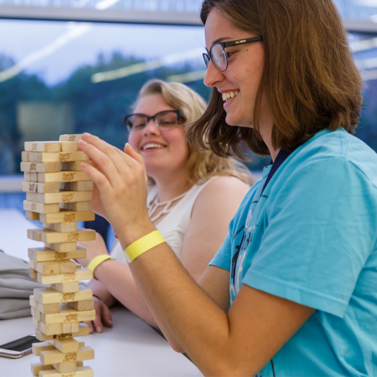 A game of jenga played in the cube.
