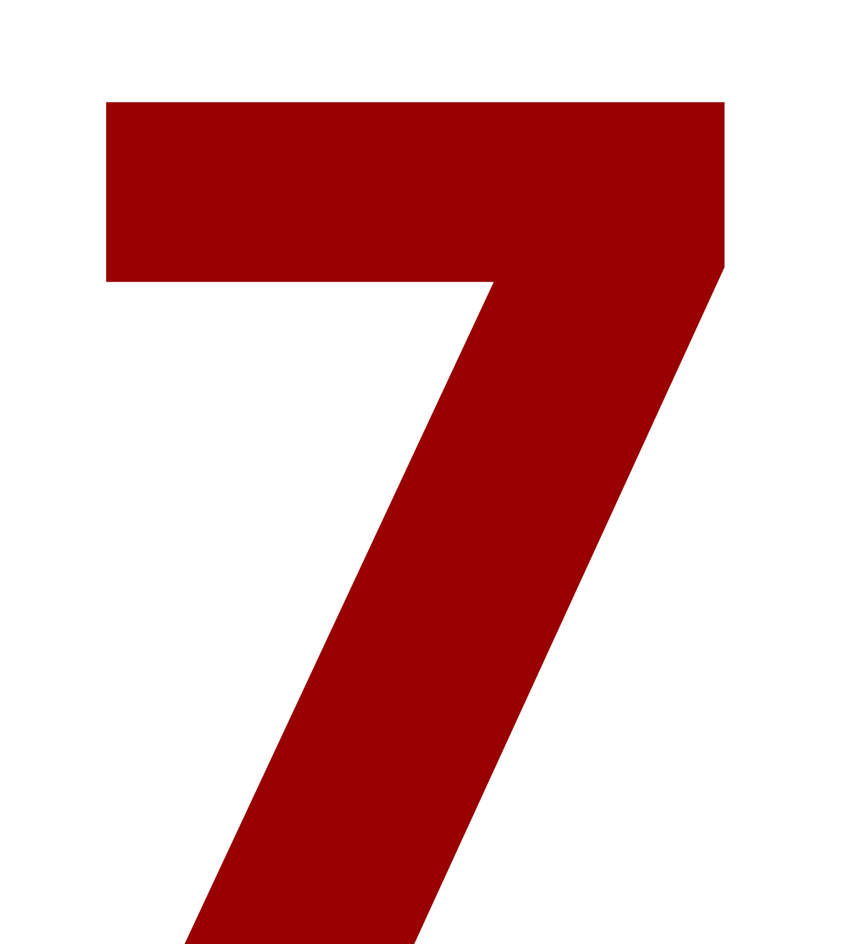 A large number 7.
